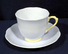 Royal Albert Bone China Pastella Light Blue with Yellow Tea Cup and + Saucer Set