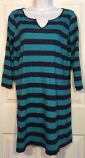 LILLY PULITZER Gretchen Shift Dress Cover-up Tropez Blue Green Stripe Cotton S