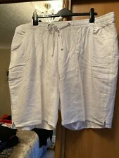 Linen Blend White Summer Shorts Size 24