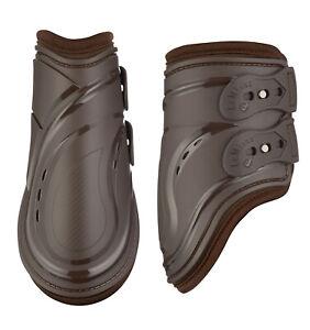 SALE - Le Mieux Impact Responsive Gel Fetlock Boots - Brown Medium