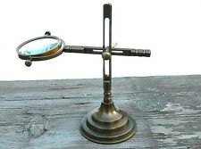 Antique Style Jewelry Making  Adjustable Magnifying Glass Solid Brass
