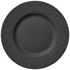 28cm rund schiefer schwarz grau Magu NATUR DESIGN Essteller Speiseteller LINE D