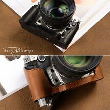Premium Handmade Genuine Real Half Camera Leather Case Bag Cover For Nikon DF