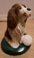 New ListingByers Choice 1999 Brown & White Spaniel Dog with Snowball Signed by Joyce Byers