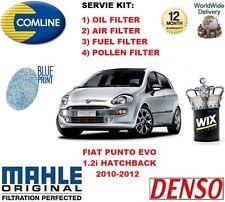 Per FIAT PUNTO EVO 1.2 2010-2012 Olio Aria Carburante Polline Filtro Servizio Kit