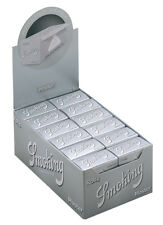 5 Boxen (120 Rolls) Smoking Master Rolls ultra slim Papers silver silber Rollen