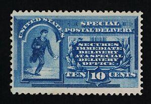OUTSTANDING GENUINE SCOTT #E1 VF+ MINT OG XLH VIVID BLUE COLOR SPECIAL DELIVERY