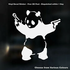 BANKSY Panda With Guns JDM Vinyl Decal Sticker for Car Window Bumper Bodywork
