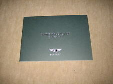 Bentley Brooklands Media Info Press Kit Prospekt Brochure von 2007, 28 Seiten
