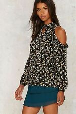Nasty Gal Glamorous Arctic Poppy Floral Top $58