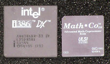 Vintage Intel i386 DX Processor (CPU) SX544 & ULSI Math-Co DX Coprocessor (FPU)
