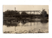 """WEST JEFFERSON OHIO EARLY 1900's """"LITTLE DARBY RIVER""""--REAL PHOTO--WOWSERS VIEW~"""