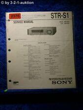 Sony Service Manual STR S1 Receiver  (#2376)
