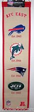AFC American Football Conference East Wool Heritage Banner Eastern 8 X 32""