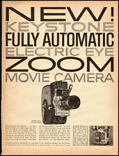 1960 Vintage ad for Keystone Electric Eye Zoom Movie Camera  (022513)