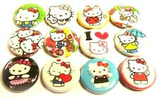 """12 HELLO KITTY ONE Inch Buttons 1"""" Badges Pinback Pins Kawaii Cute Cosplay"""