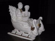 "LENOX 1993 MUSICAL SLEIGH -- PLAYS ""O CHRISTMAS TREE"" -- FREE SHIPPING!!!"