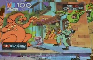 THE REAL GHOSTBUSTERS 100 piece Puzzle Milton Bradley 1980s (miss 4 pieces)