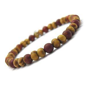 New Style Bracelet-bijoux homme/femme perles naturelle bois 6mm Pierre de gemmes