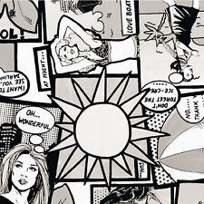 Klebefolie Möbelfolie Comic WEISS schwarz Retro 45 Cm X 15 Meter Am Stück