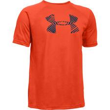 Under Armour Kid's UA Tech Big Logo T-Shirt - YMD (9-10) - Orange