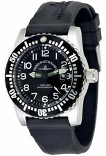 Zeno-Watch Basel Swiss Made Airplane Diver 6349-515Q-12-a1 Ronda Saphir 50 ATM