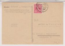 Bizone/AM-Post, Mi. 24 EF, Hamburg, 4.6.46 (ÜF)