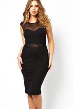 Büro Kleid schwarz Abendkleid Große Größen Festlich Elegant Gr. 44-46