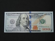 2009 A $100 US DOLLAR BANK NOTE LD 46014601 D REPEATER  NOTE BILL USD CHOICE AU