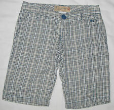 Womens Girls Billabong Blue Green Plaid Long Cotton Walking Short  Shorts Size 0