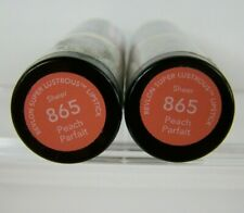Revlon Super Lustrous Lipstick #865 Peach Parfait Lot of 2 Sheer New Sealed