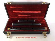 FMD Irlandese D Flauto, 3 PZ, Ebano legno, con custodia