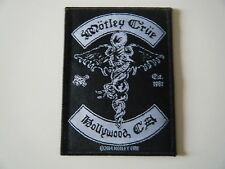 MOTLEY CRUE PATCH Hollywood CA Est 1981 Embroidered Iron On Badge 2014 NEW