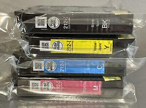 New 4 Pack GENUINE EPSON 212-I T212 SETUP Cartridge set WF-2830 WF-2850