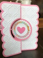 Handmade Pop Up Greeting Cards - Lot of 6 Cards, layered paper, pinks