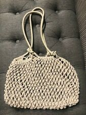 Authentic Clare V Sandy Tote Beach Bag Natural