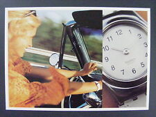Swatch Intensity Womens Watch Swiss Color Promo Advertising Postcard 1997