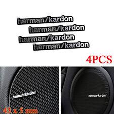 4x Harman Kardon 3D Auto Badge Audio Speaker Logo Emblem Sticker Audi BMW Mini