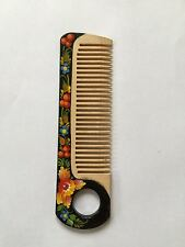 Ukrainian Hand Made and Painted Wood Comb