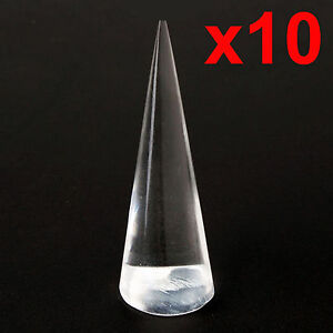 1/3/5/10 Clear Transparent acrylic perspex cone finger ring display stand holder