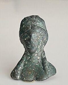 Roman Bronze Bust Of Goddess