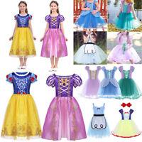 Kids Girls Princess Dress Fairytale Party Halloween Dress Up Fancy Costume Tutus