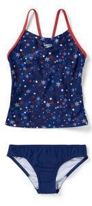Speedo USA Red White Blue 2pc Tankini Swimwear Set YOUTH GIRL'S SIZE 10 ZP-4353