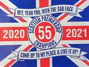 RANGERS CHAMPIONS 55 STICKERS 8.2 INCHES BY 6.2 INCHES