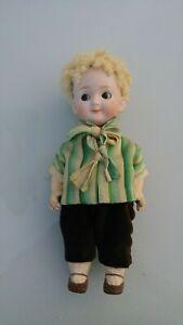 "Rare and Beautiful 8 "" (20 cm) Antique Heubach Google eyes Boy Doll"