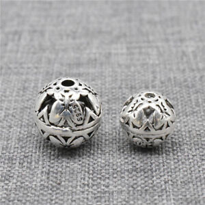 4pcs 925 Sterling Silver Hollow Butterfly Beads for Necklace Bracelet 8mm 10mm
