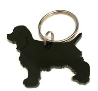 Cocker Spaniel Cocker Dog keyring Keychain Bag Charm Gift In Black