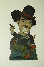 Charlie Chaplin Amusement Park Carnival Painted Wood Ball Toss Game France 1920