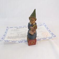 """Signed Alphabet """"D""""-1993~R~Tom Clark Gnome~Cairn Item #5220~Ed #52~Coa"""