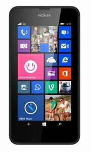 Nokia Lumia 635 Black Windows 8 Smartphone (Unlocked) 8Gb-4G-Excellent Condition